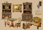 мебель из состаренной сосны столы журнальные кухонные консоли