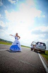 Стильное свадебное платье!