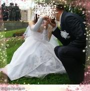 Красивое эффектное свадебное платье