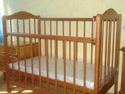 Продам детскую кроватку и матрац