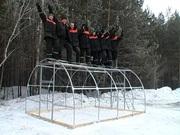Купить теплицу «Сибирская» из сварной оцинкованной трубы 6x3x2