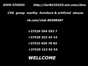 DIVO Studio & CVG group worthy furniture and artificial stoune.