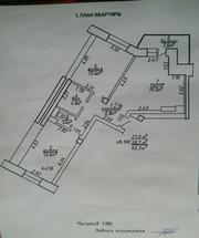 Новая 2-х комнатная квартира кухня-19, 5м.кв.