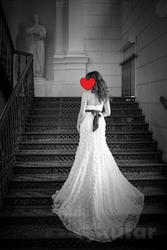 Свадебное платье со шлейфом 42 р-р